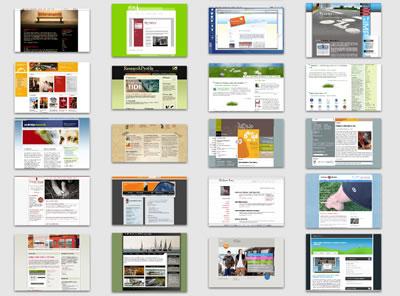 iPhoto als Webdesignsammlung