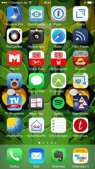 My Homescreen, no castle