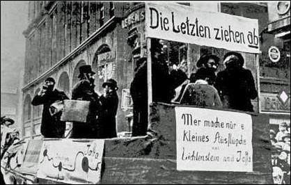 Rosemontagszug in Köln 1933