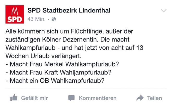 Unfairer Äußerungen der SPD