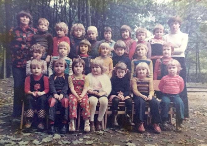 Kindergarten in glücklichen Zeiten