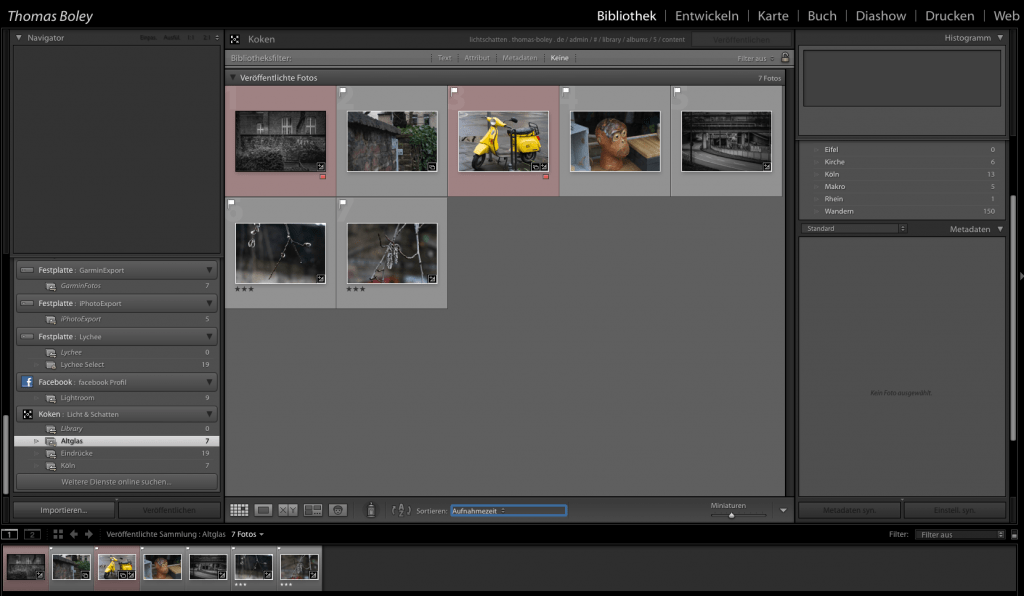 Koken in Lightroom