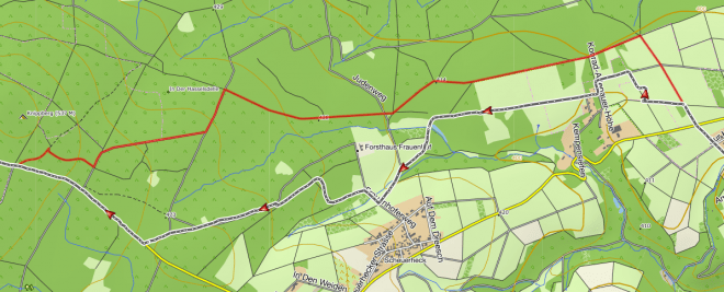 Abweichung Ahr-Venn-Weg