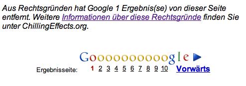 Google Zensur