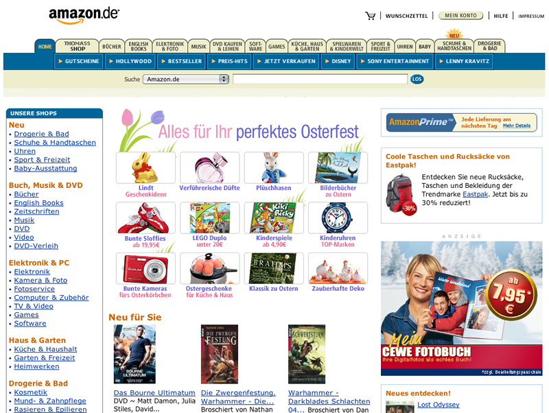 amazon altes Design