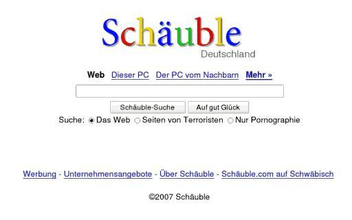 Schäubles Suchmaschine