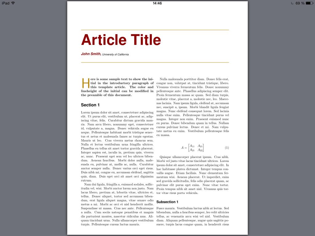Ein mit LaTeX gesetztes PDF