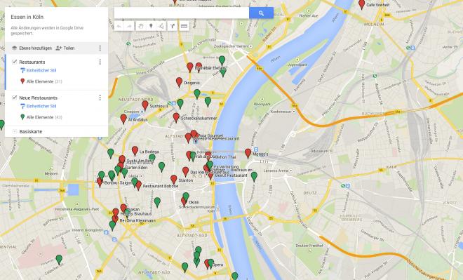 Karte in Google Maps