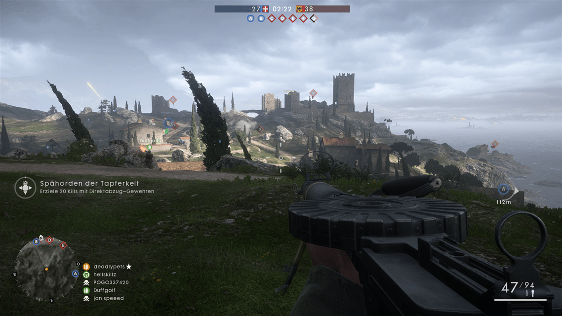 Eine Karte bei Battlefield 1