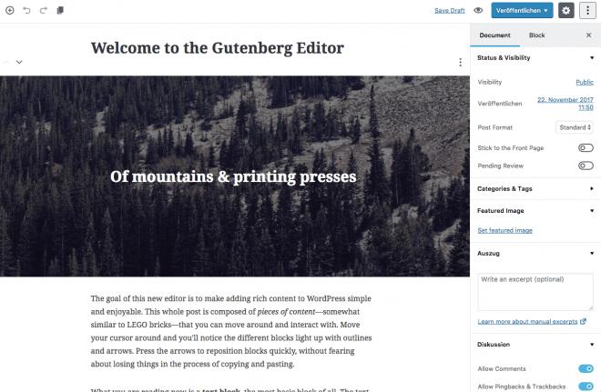 Demoinhalte von Gutenberg