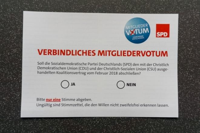 Stimmkarte Mitgliedervotum