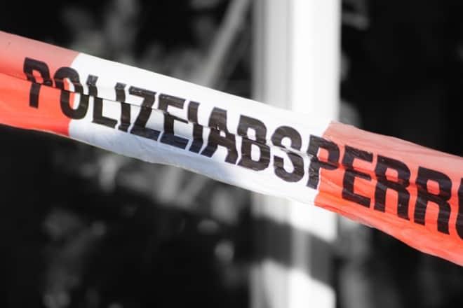 Polizeiabsperrung nach Geiselnahme