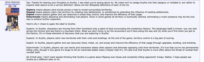 Scythe, ein 4x Spiel