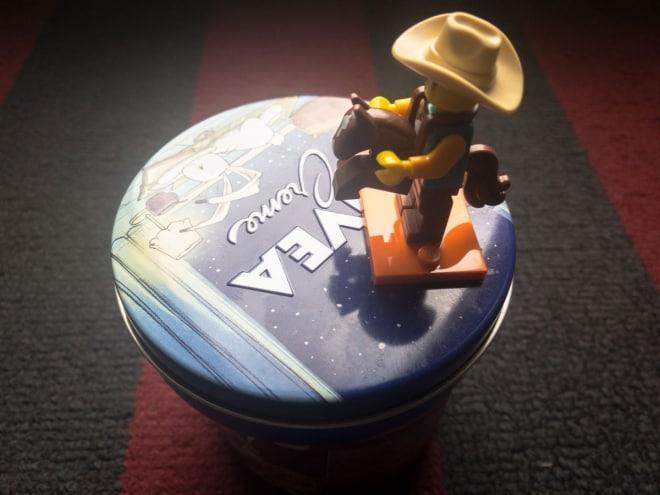Cowboy auf dem Spielwarengeschäft