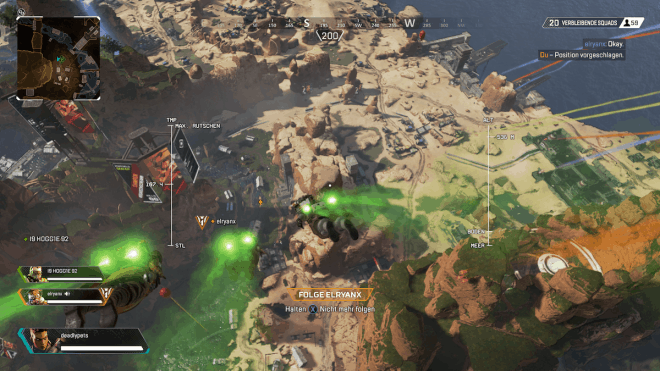 Flug zum Schlachtfeld