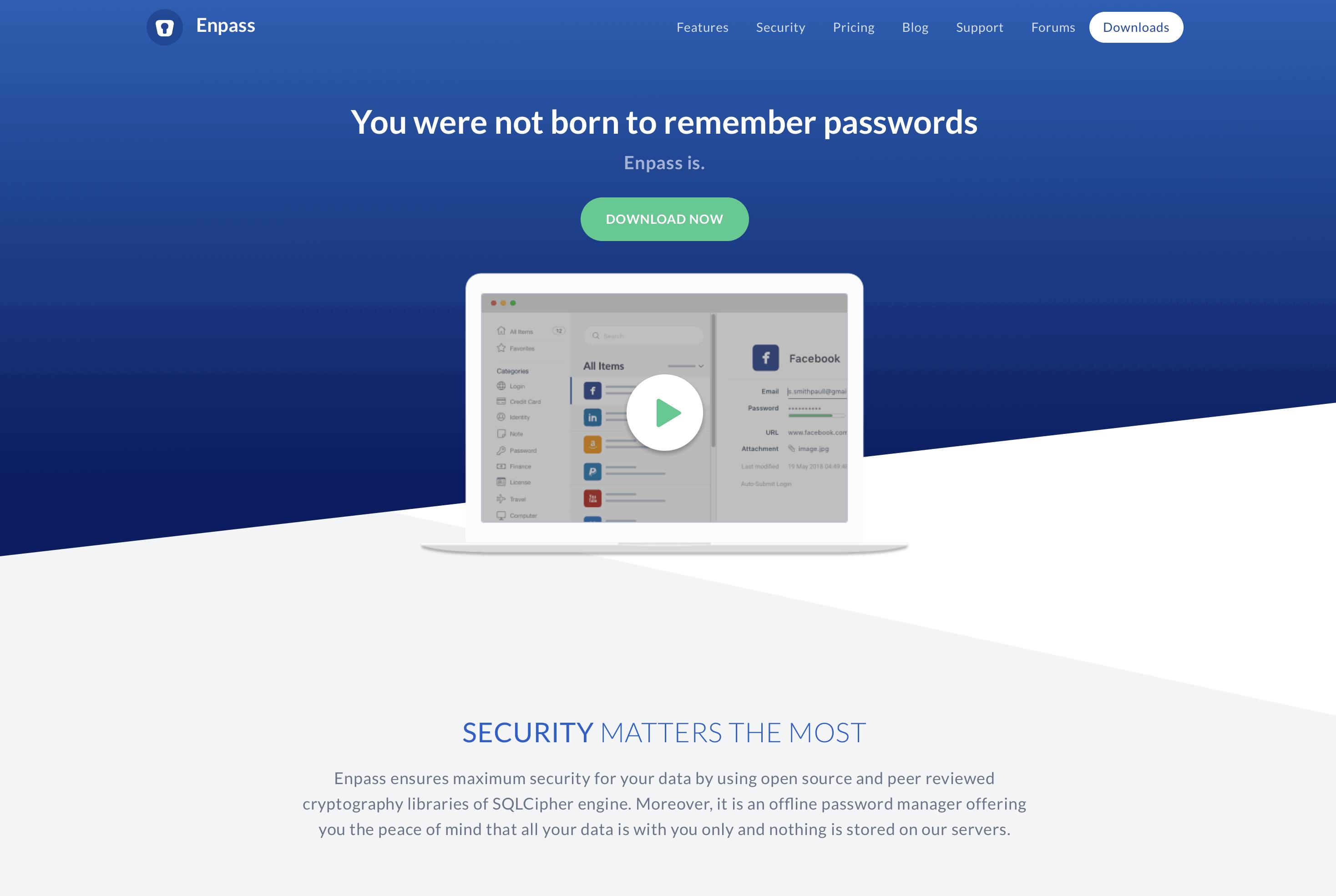 Passwordmanager Enpass