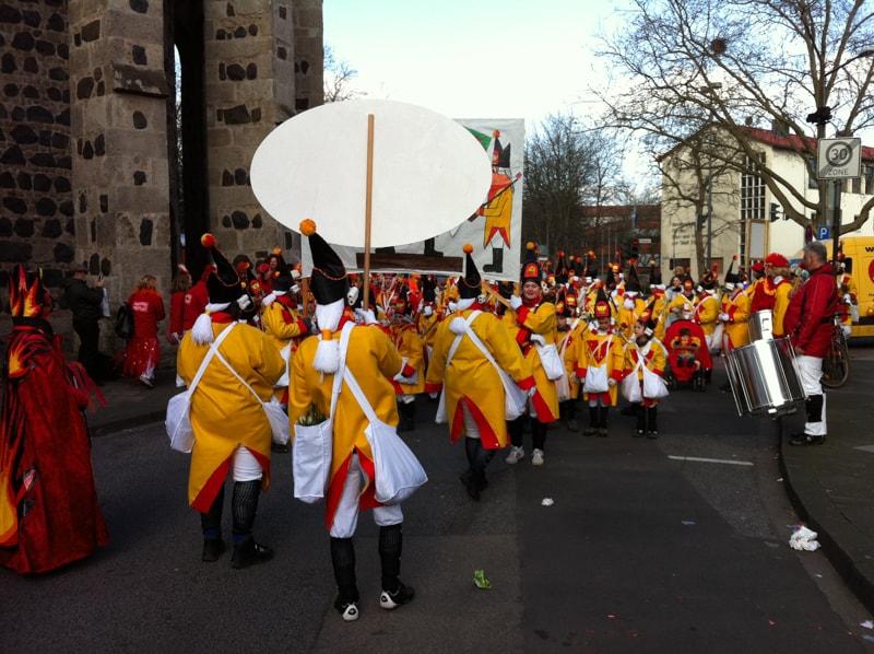 Karneval von hinten