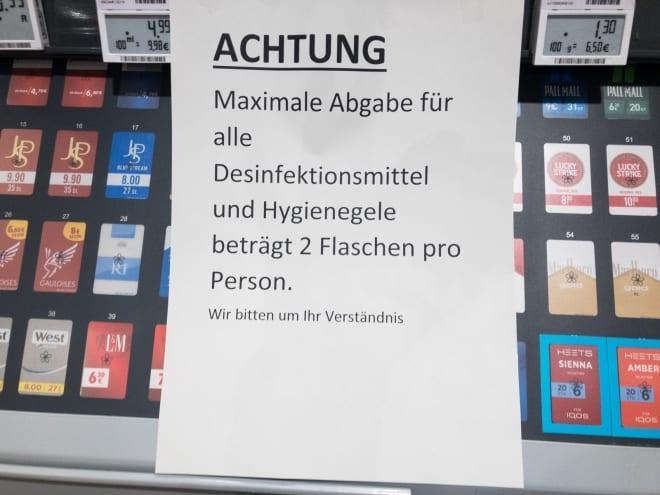 Einschränkungen beim Einkauf
