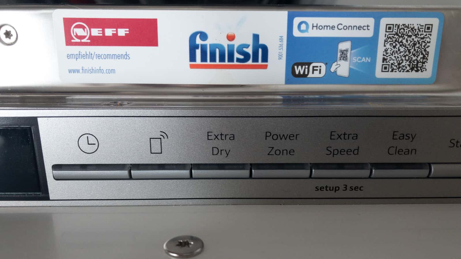 Hinweis auf sprechende Spülmaschine