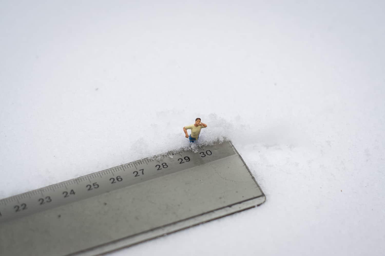 Flockdown mit 30 Zentimeter Schnee