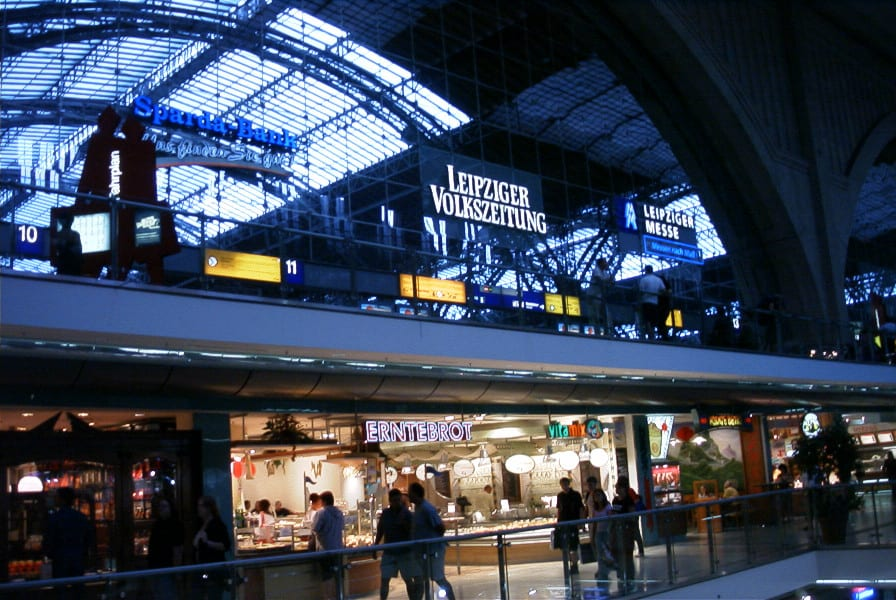 Kopfbahnhof in Leipzig