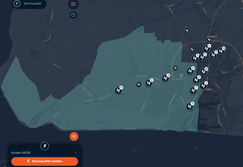 Stromausfall wurde gemeldet
