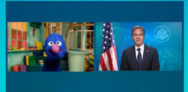 Politiker in der Sesamstraße