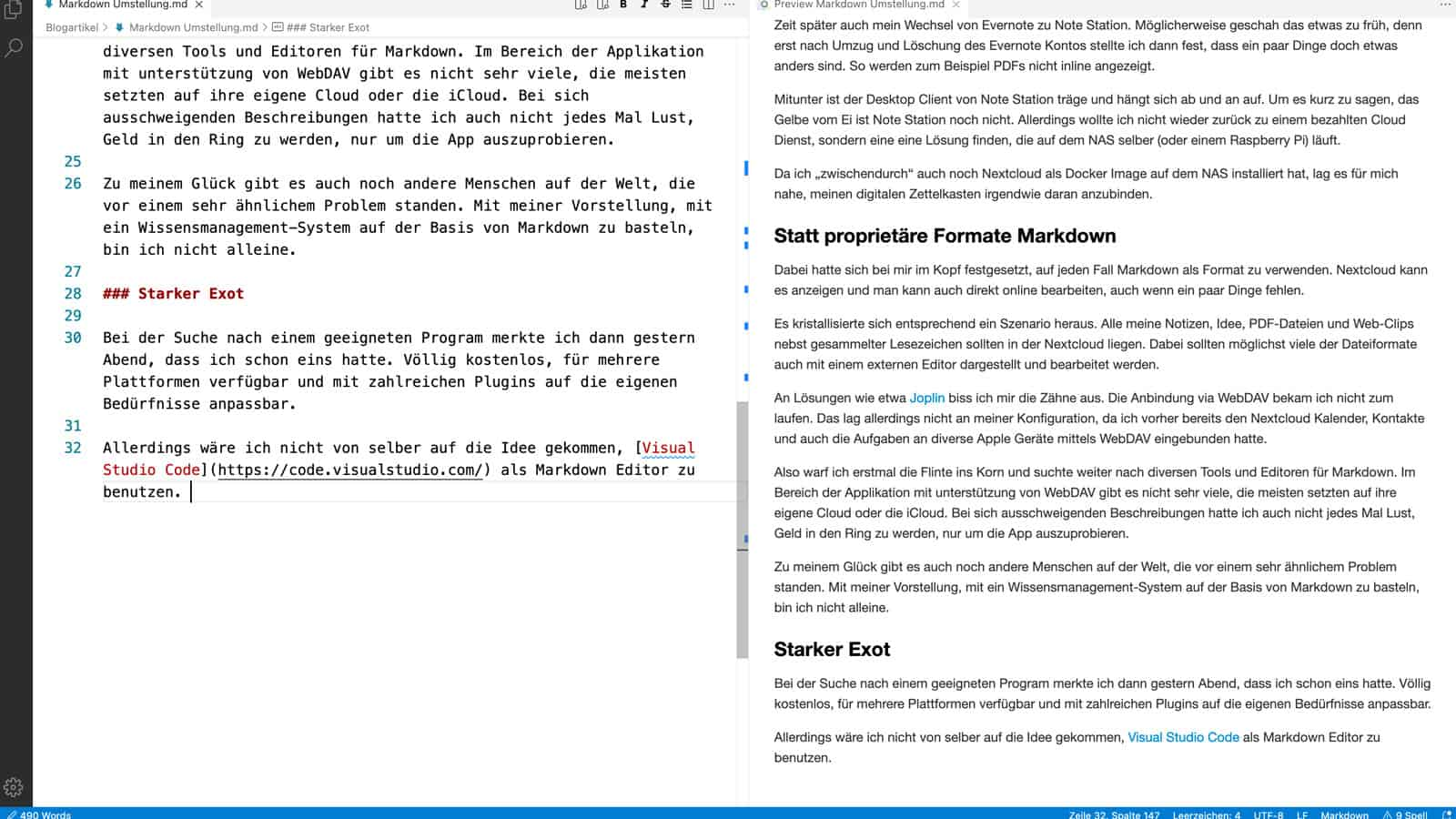 Markdown mit Visual Studio Code